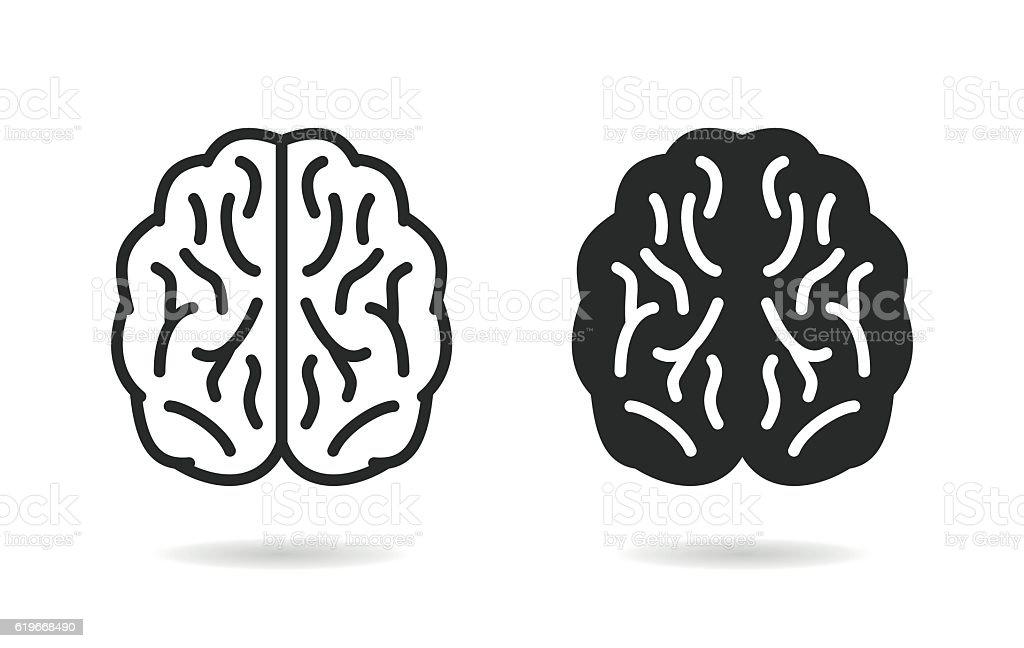 Brain - vector icon. vector art illustration