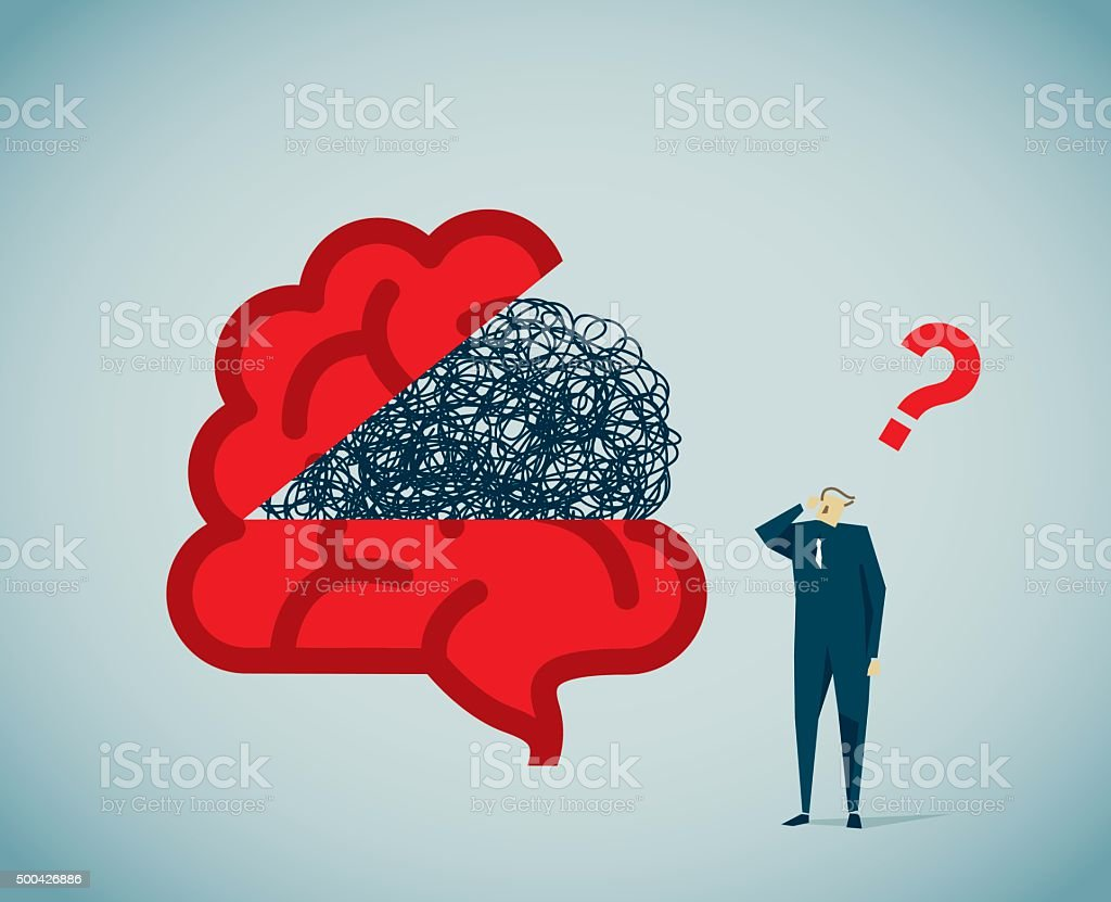 Brain vector art illustration