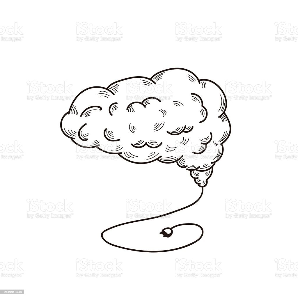 brain vector art illustration