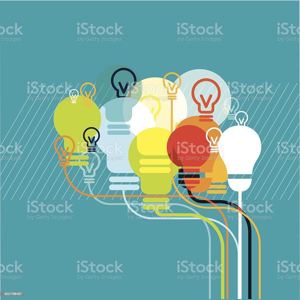 Brainbulbs vector art illustration