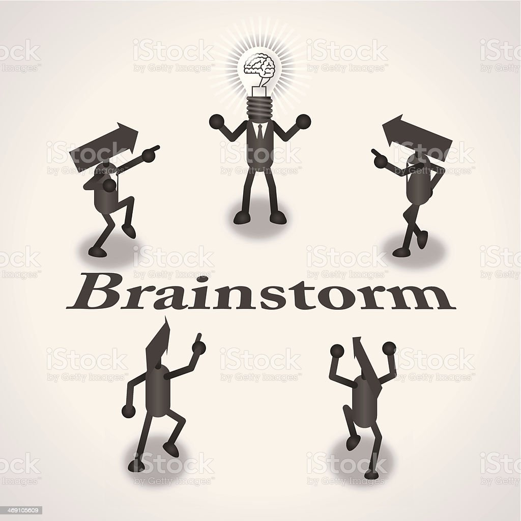 Brainstorm royalty-free stock vector art