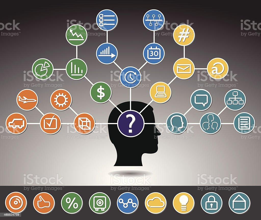 Brainstorming - Business vector art illustration