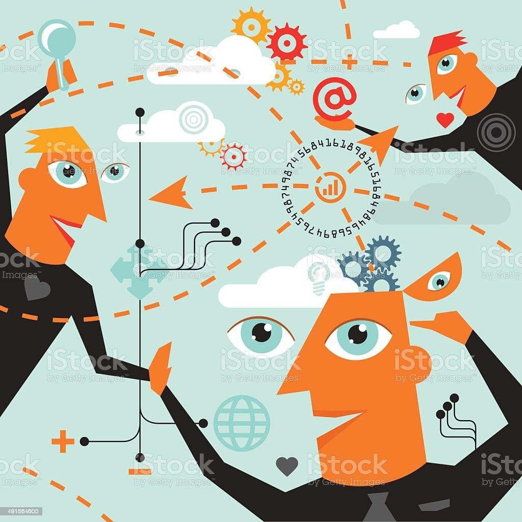 brainstorming - illustration vector art illustration
