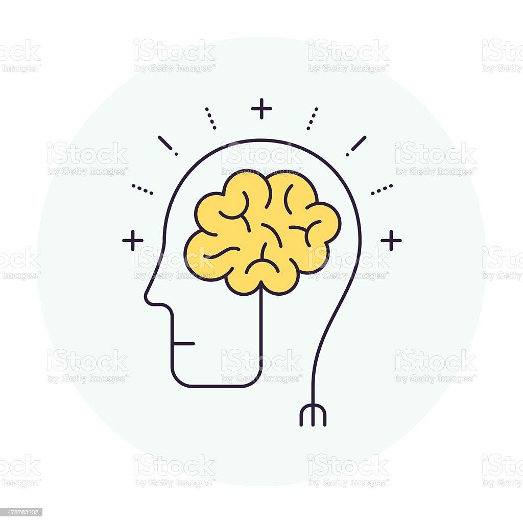 Brainstorming Symbol vector art illustration