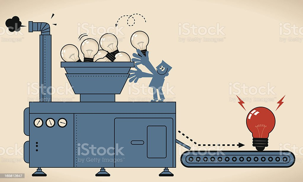 Brainstorming vector art illustration
