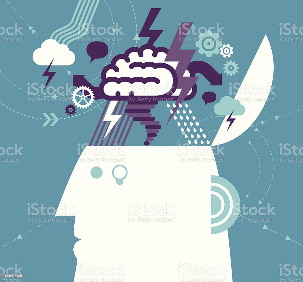 Brainstorming royalty-free stock vector art