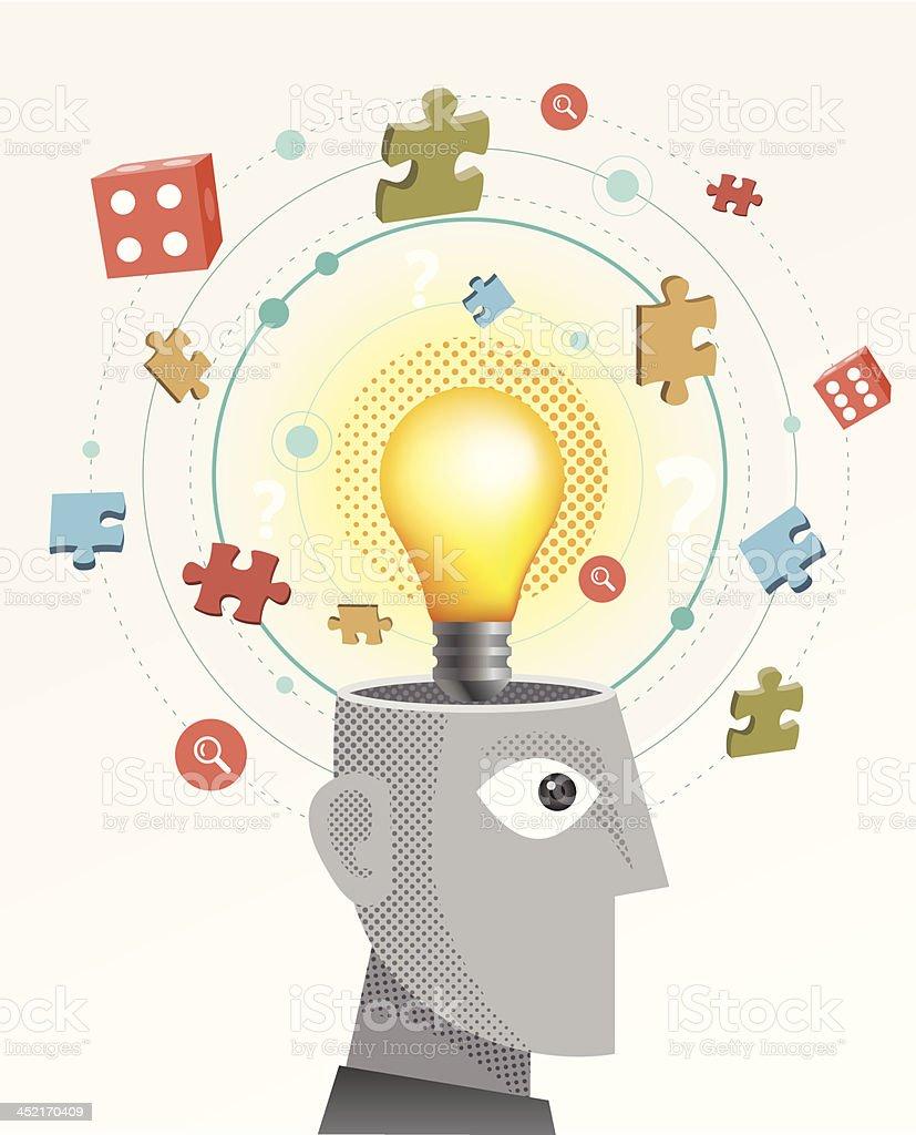Brainstorming royalty-free stock vector art