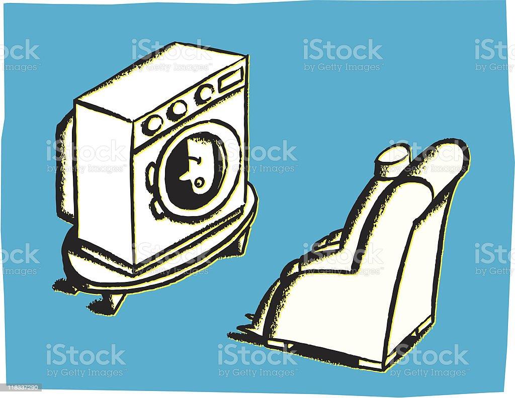 Brainwash vector art illustration
