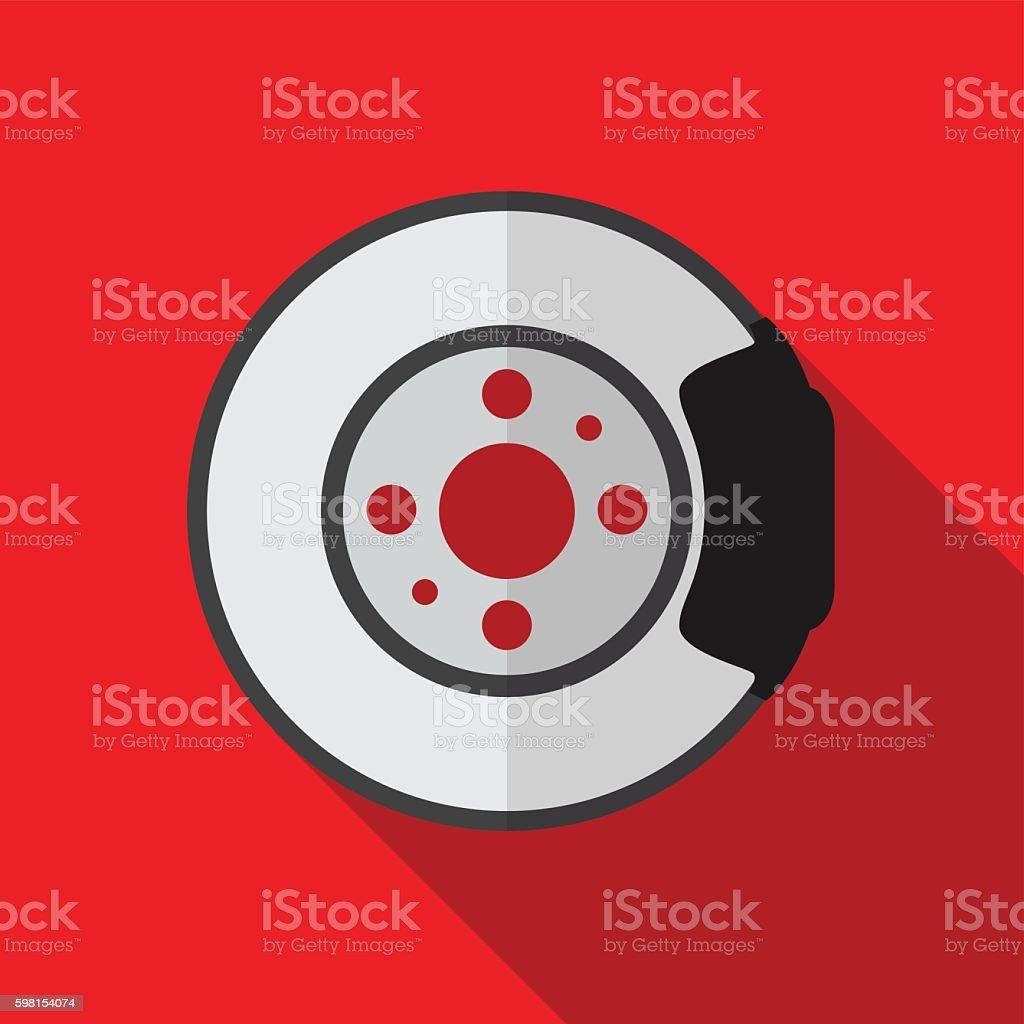 Brake disk flat icon illustration vector art illustration