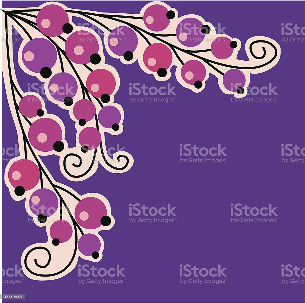 branch of currant. royalty-free stock vector art