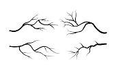 branch silhouette icon, symbol, design. vector