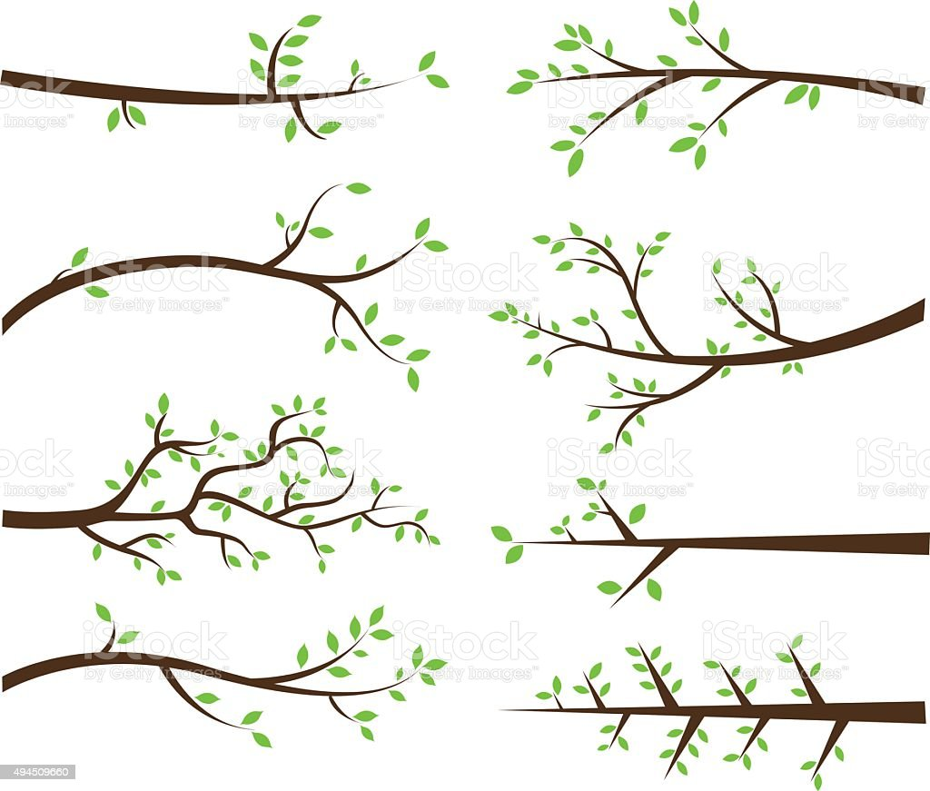 Branch Silhouettes Elements vector art illustration