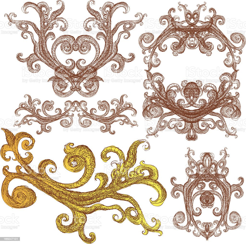 branches of decor royalty-free stock vector art