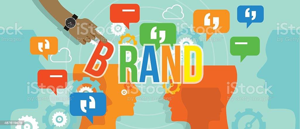 brand building branding business concept company corporate vector art illustration