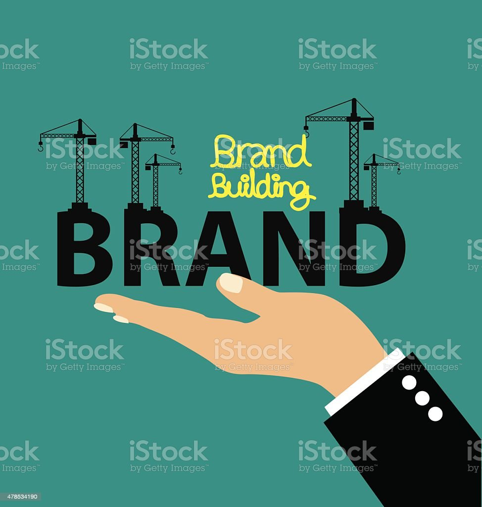 Brand building concept vector illustration. vector art illustration