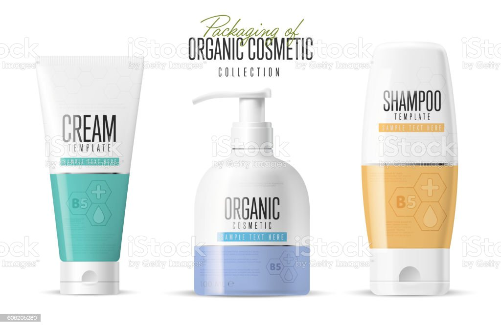 Brand concept organic cosmetics. Vector template vector art illustration