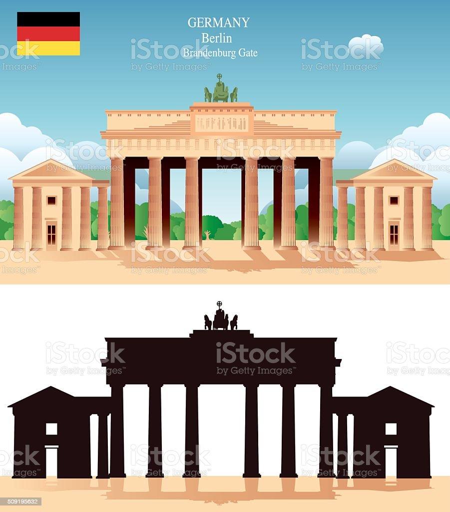 Brandeburg Gate vector art illustration