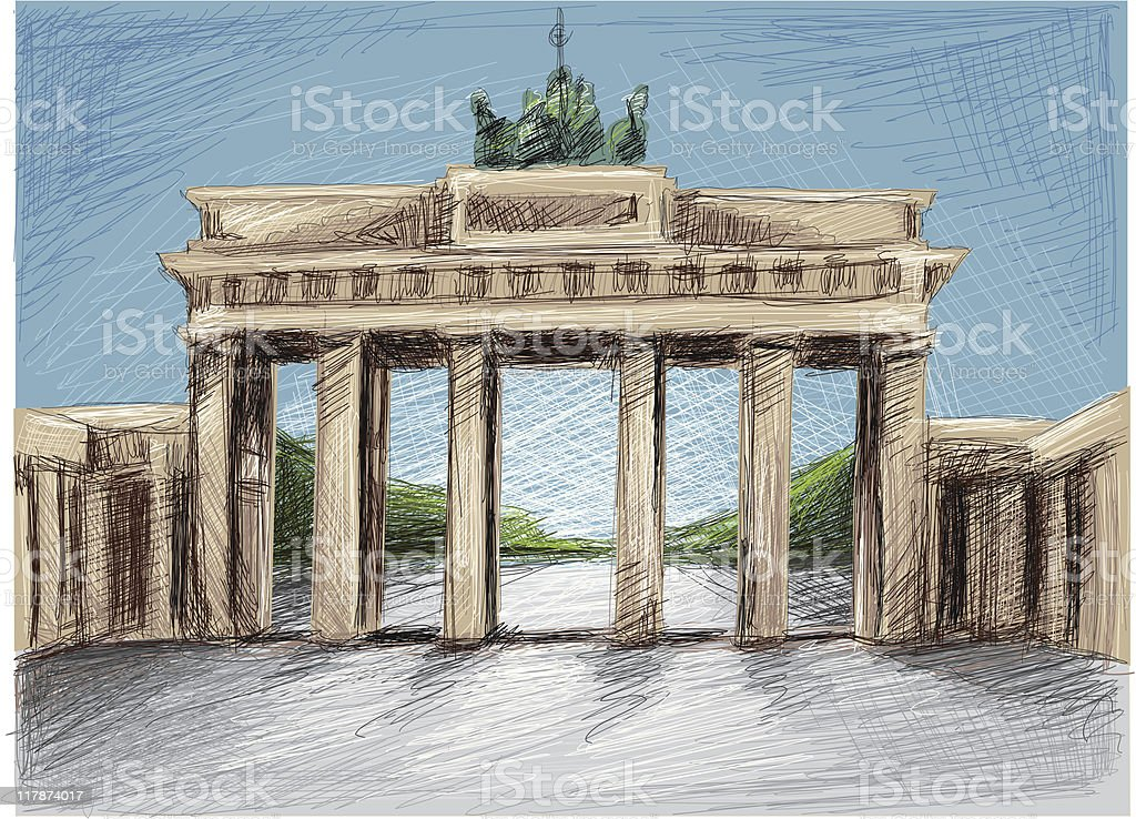 Brandenburger Tor royalty-free stock vector art