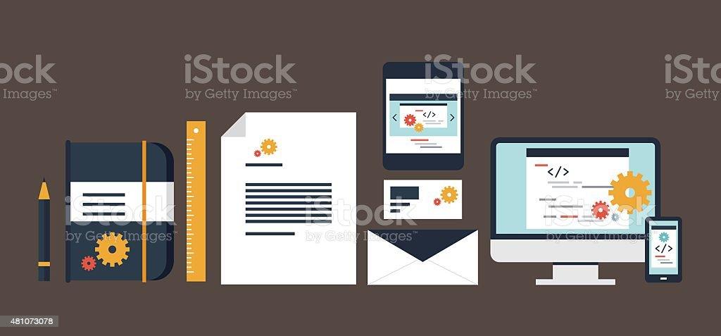 branding design kit vector art illustration
