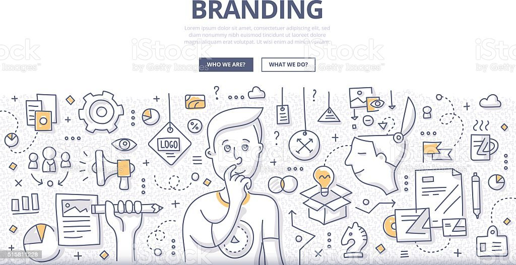 Branding Doodle Concept vector art illustration