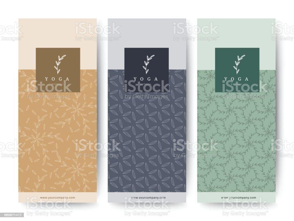 Branding Packaging Flower nature background, logo banner voucher, spring summer tropical, vector illustration vector art illustration