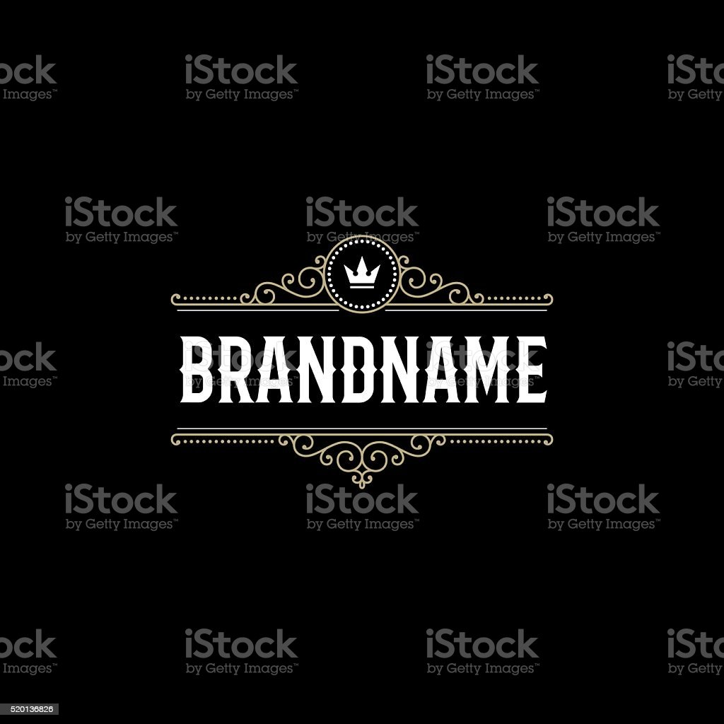 Brandname black background vector art illustration