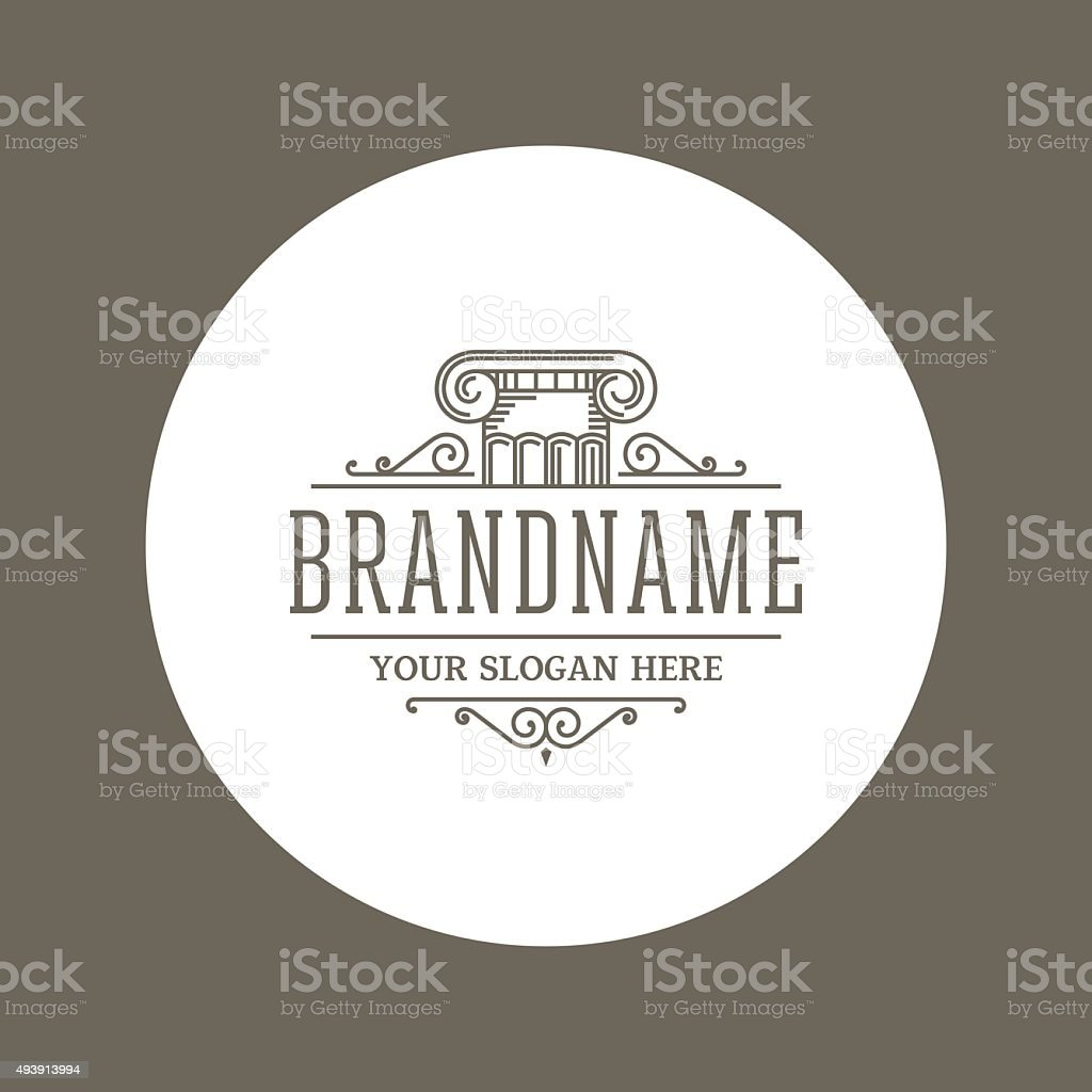 BrandnameColumn vector art illustration