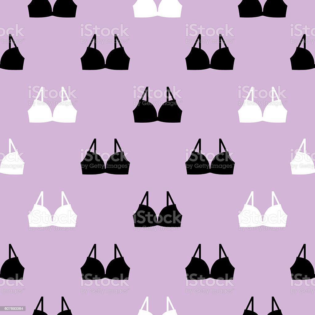 Bras Seamless pattern vector art illustration