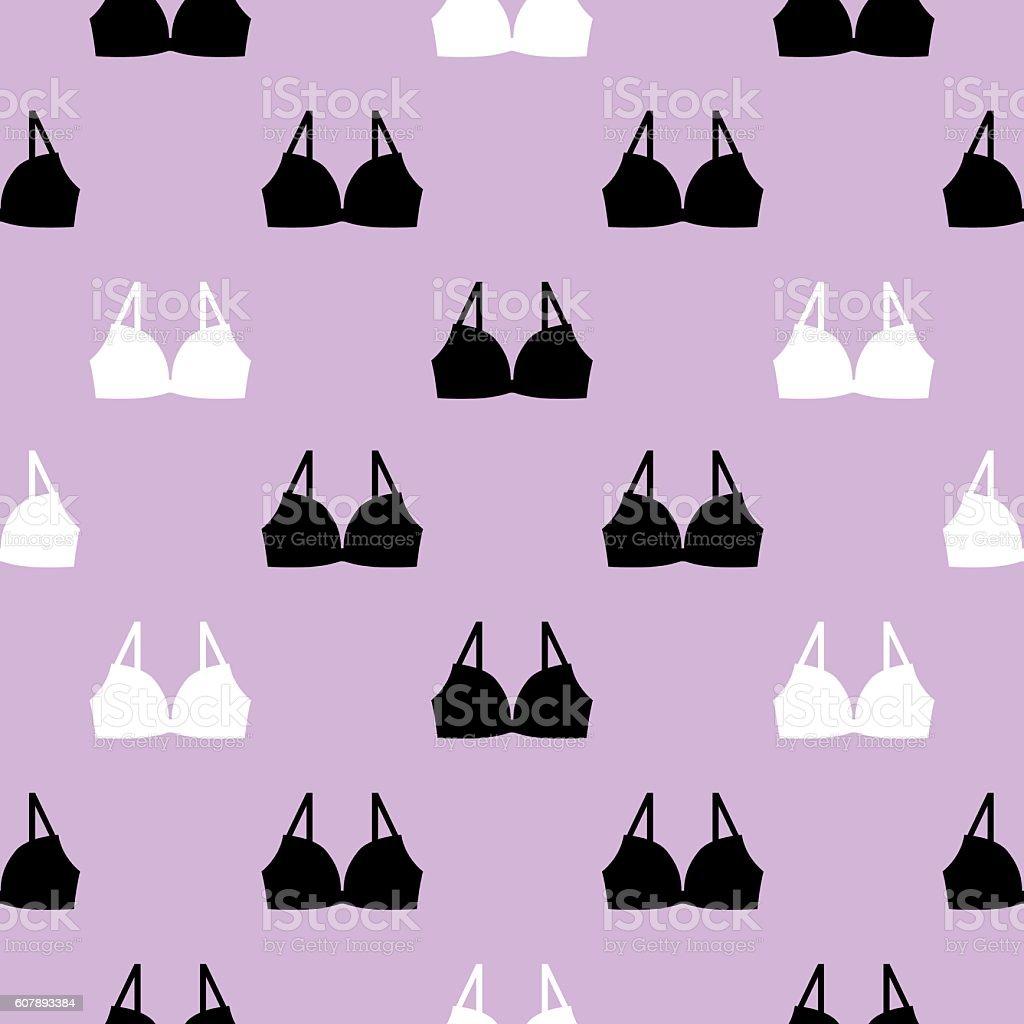 Bras Seamless pattern vector art illustration