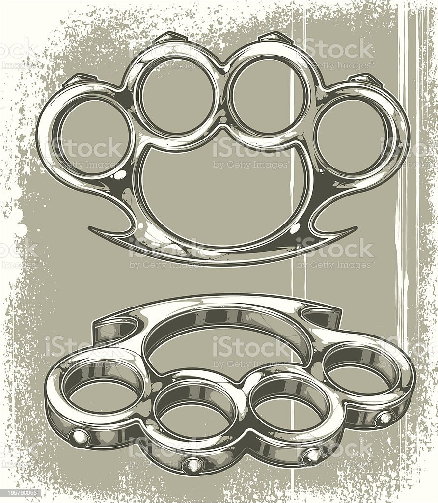 brass knuckles royalty-free stock vector art