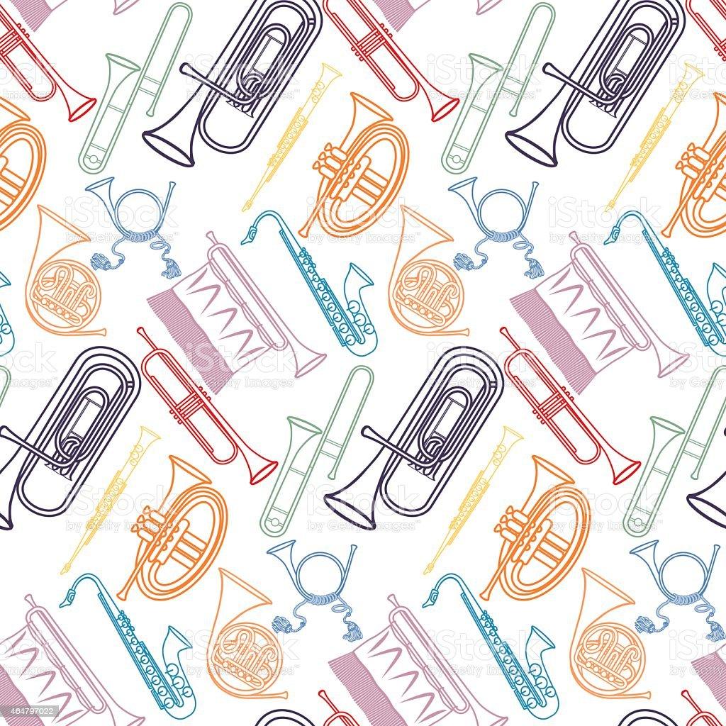 Brass pattern vector art illustration