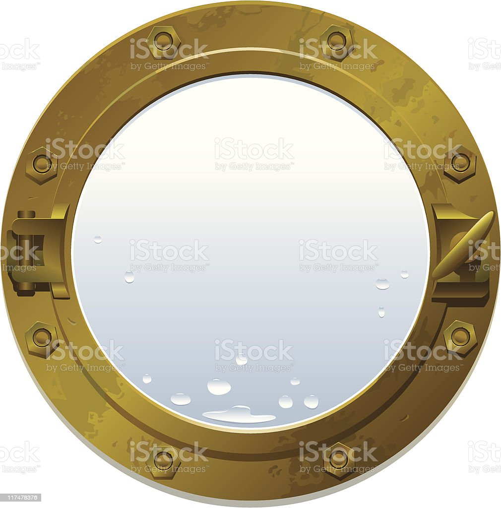 Brass porthole royalty-free stock vector art