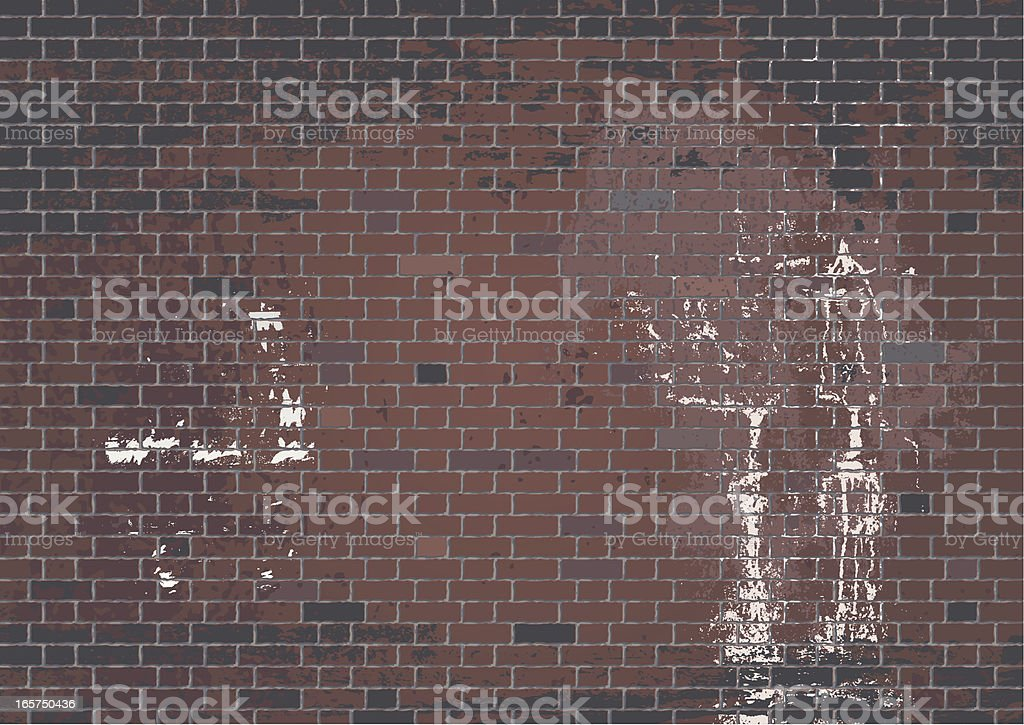 Braune Mauer royalty-free stock vector art