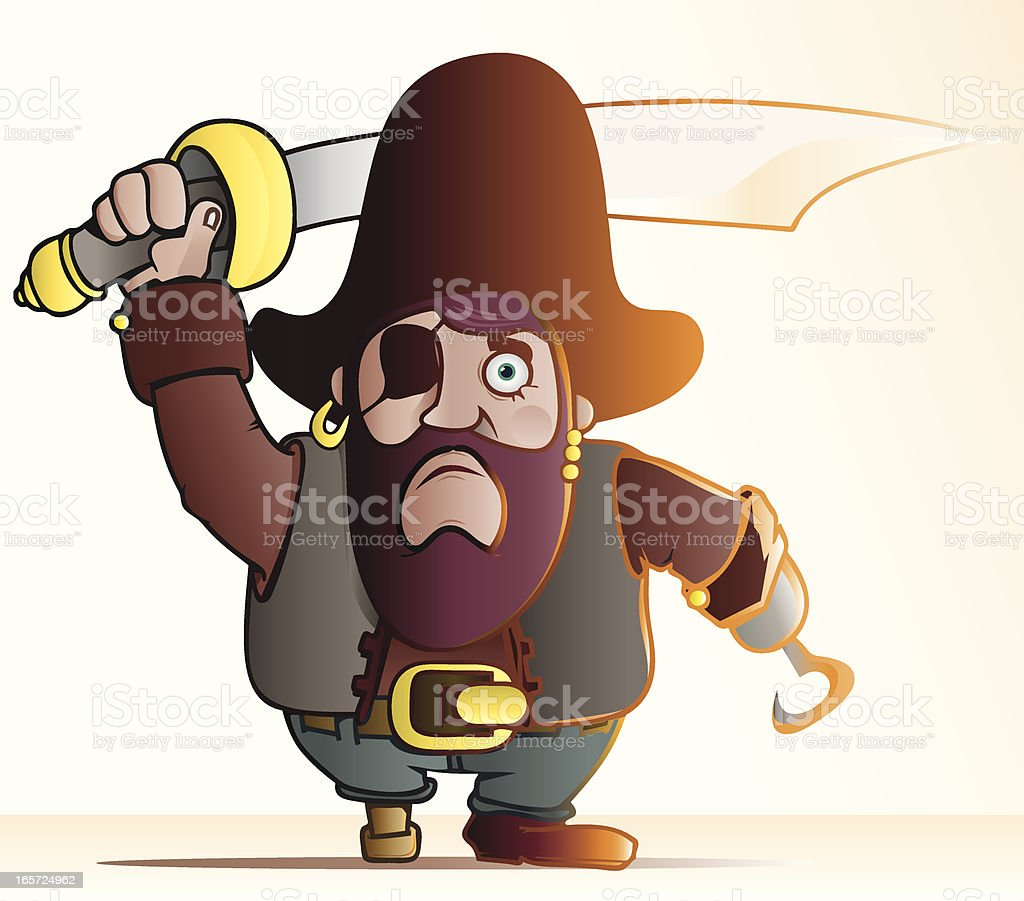 Brave Pirate royalty-free stock vector art