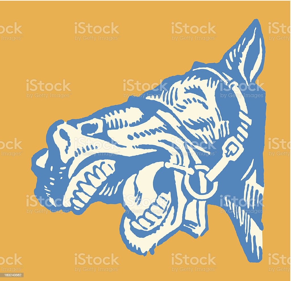 Braying Mule vector art illustration