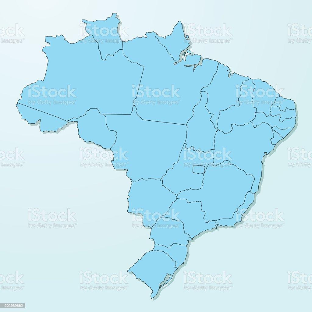 Brazil blue map on degraded background vector vector art illustration
