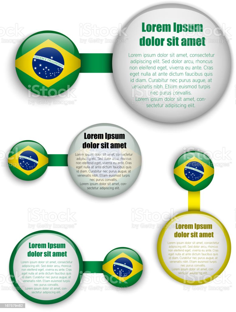 Brazil Country Set of Banners royalty-free stock vector art