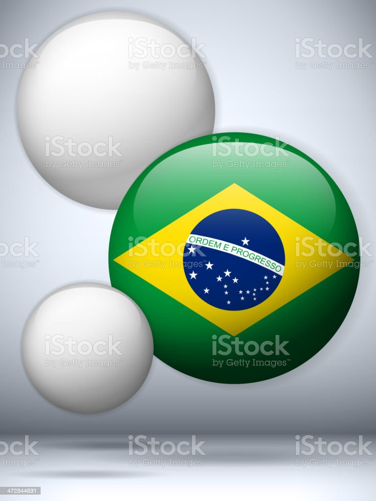 Brazil Country Set of Bubbles vector art illustration