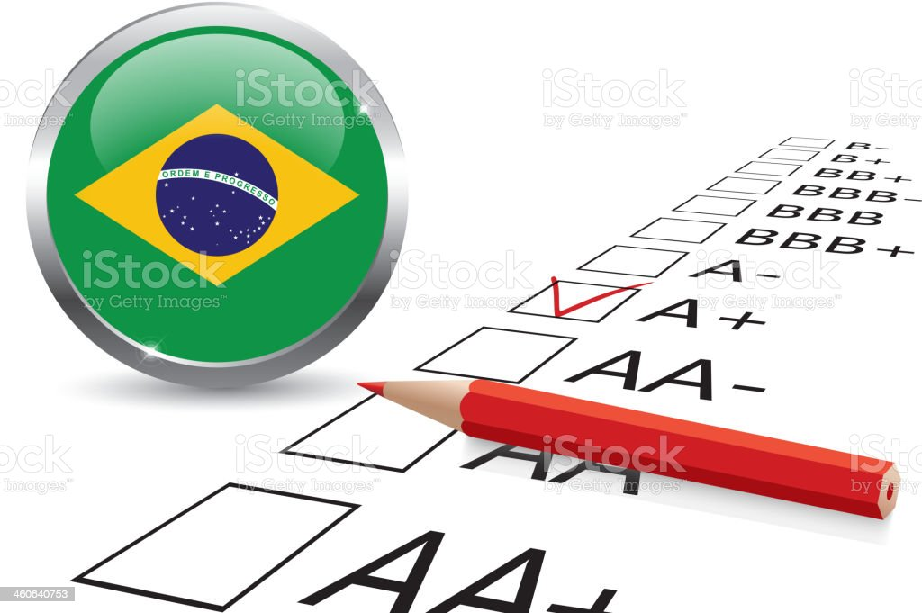 Brazil credit rating royalty-free stock vector art