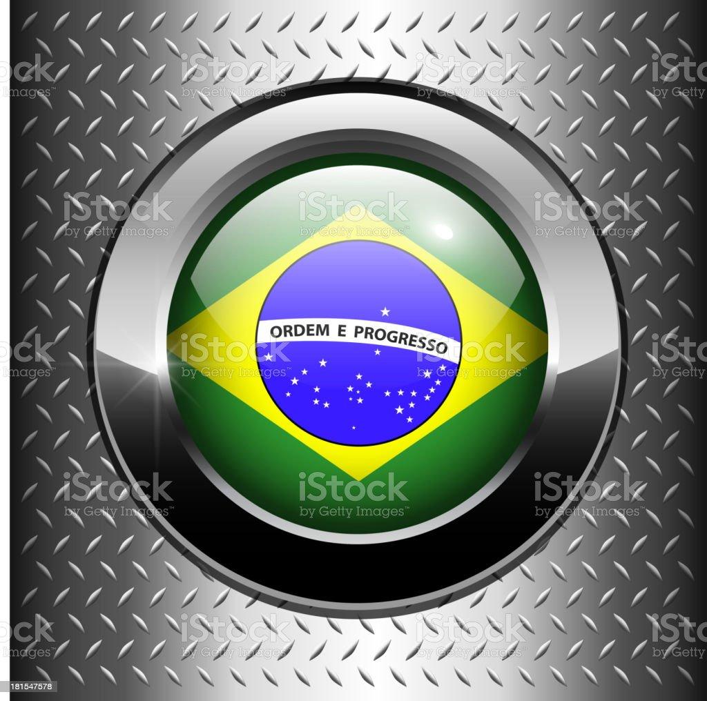 Brazil flag button royalty-free stock vector art
