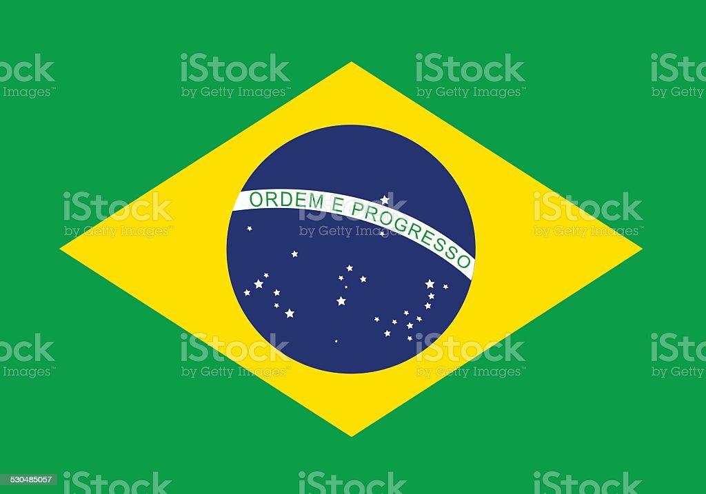 brazil flag over green background vector illustration vector art illustration