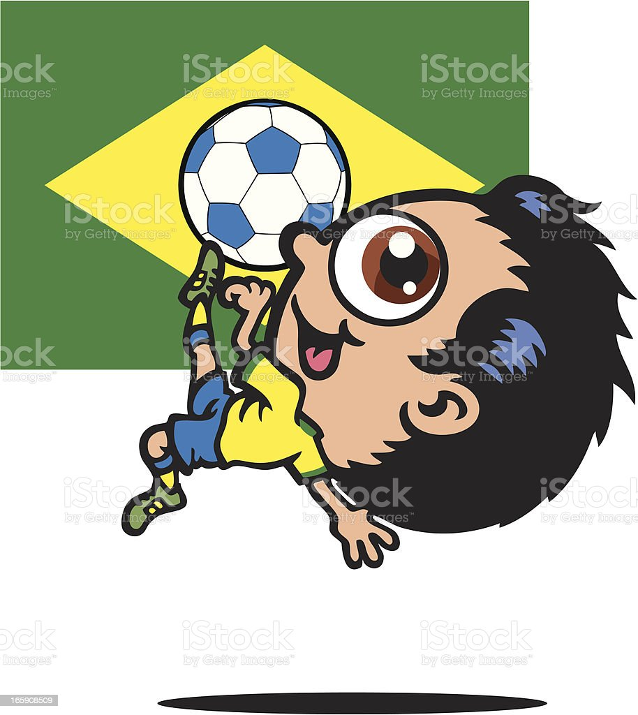 Brazil Football Player vector art illustration