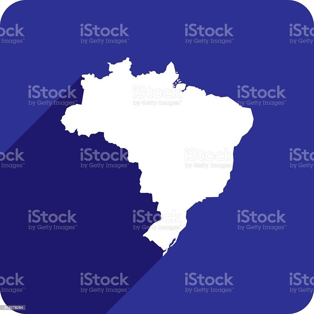 Brazil Icon Silhouette vector art illustration