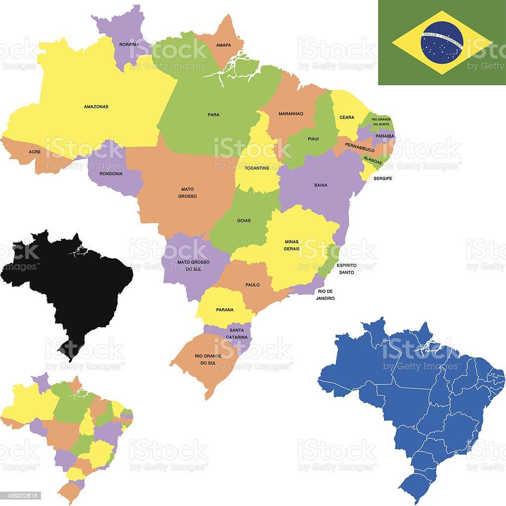 Brazil map royalty-free stock vector art