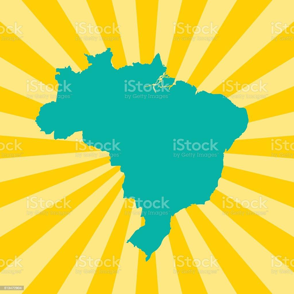Brazil Map vector art illustration