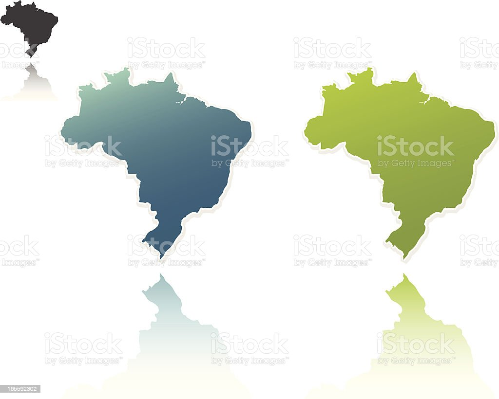 Brazil Outlines royalty-free stock vector art