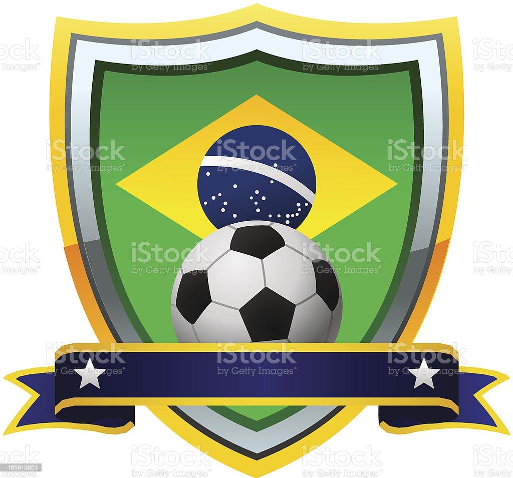 Brazil Soccer Emblem royalty-free stock vector art