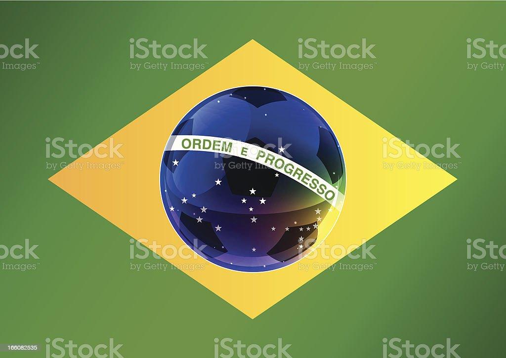 WM Brazil soccer flag royalty-free stock vector art