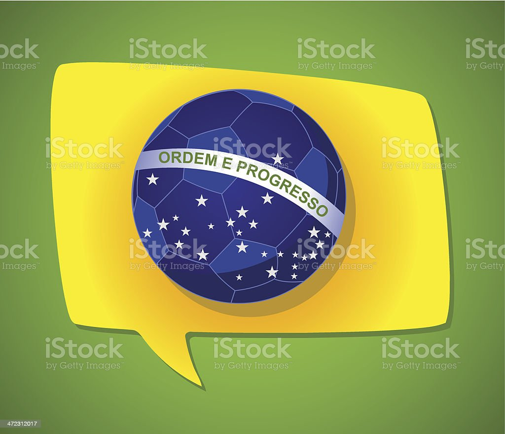 Brazil soccer flag royalty-free stock vector art