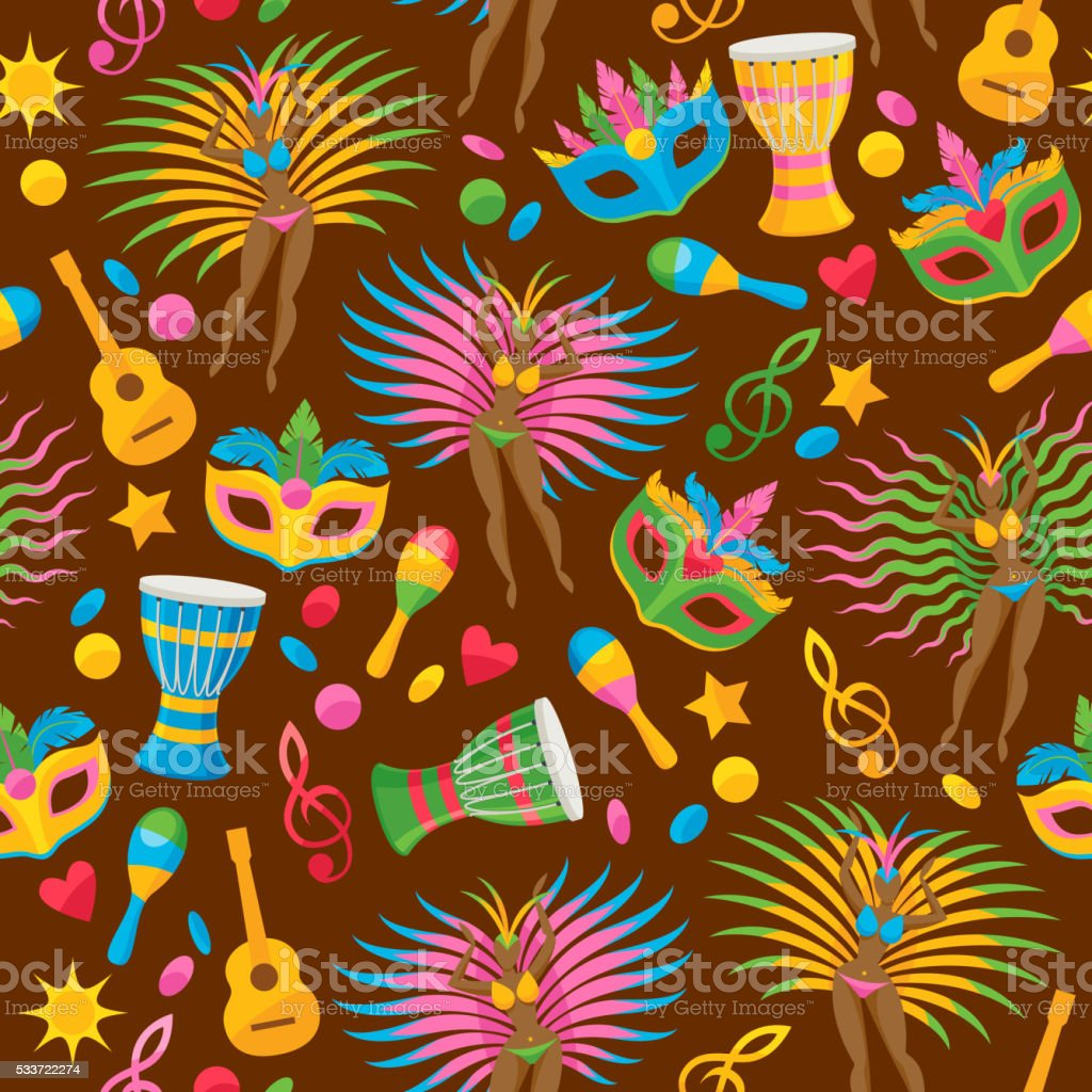 Brazilian carnival background vector illustration vector art illustration